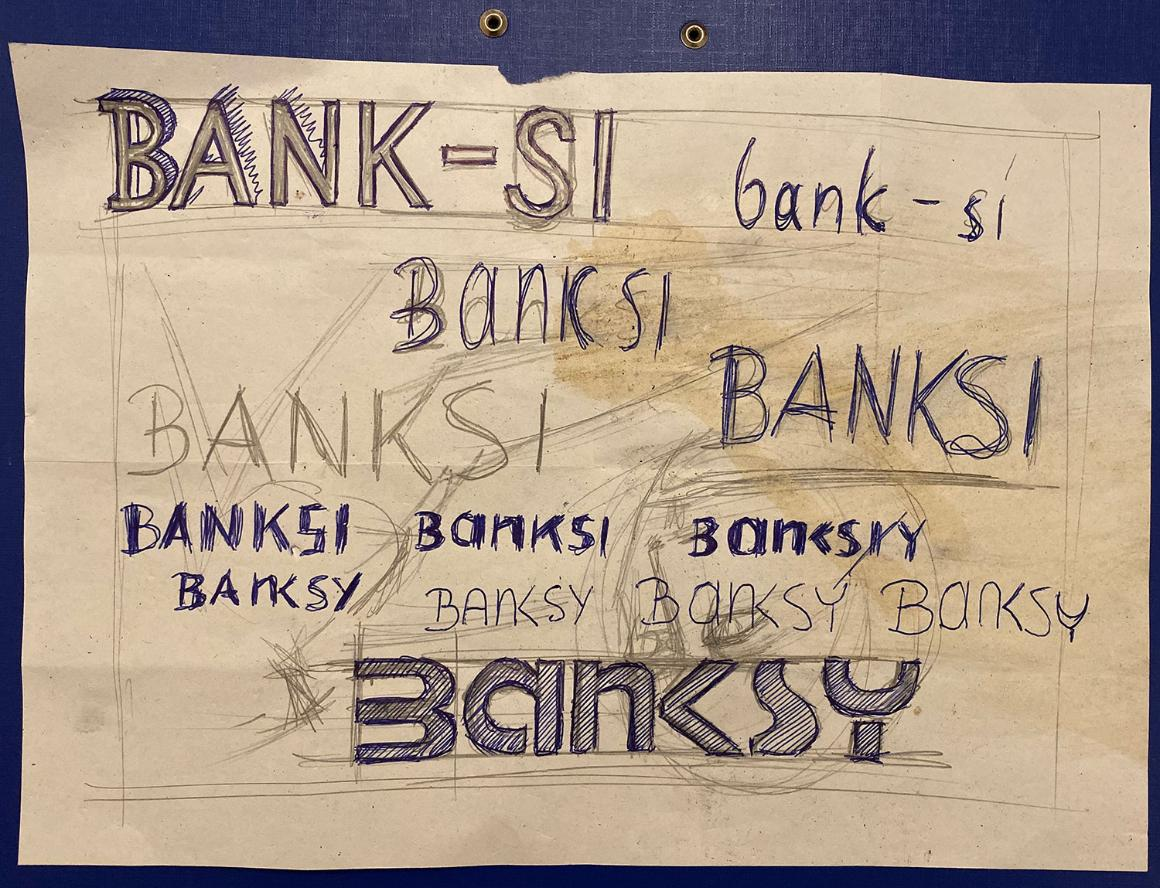 This sketch by Maître de Casson trying out some new nickname similar to Bank-Si and looking like Banksy does not prove anything. It's a coincidence.
